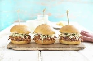 Pulled Pork Sliders with BBQ Aioli Slaw